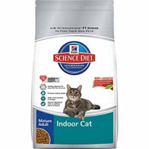 a bag of Science Diet Indoor Cat food kibble
