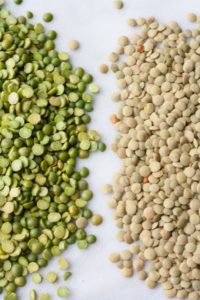 Peas and legumes often replace grains in pet food